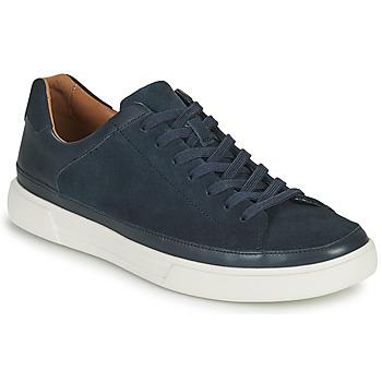 Cipők Férfi Rövid szárú edzőcipők Clarks UN COSTA TIE Kék