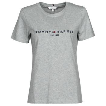 Ruhák Női Rövid ujjú pólók Tommy Hilfiger TH ESS HILFIGER C-NK REG TEE SS Szürke