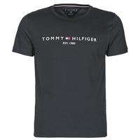 Ruhák Férfi Rövid ujjú pólók Tommy Hilfiger CORE TOMMY LOGO Fekete