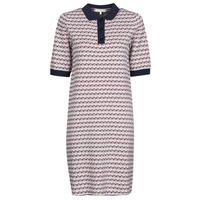Ruhák Női Rövid ruhák Tommy Hilfiger TH CUBE SHIFT SHORT DRESS SS Fehér / Piros / Tengerész