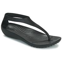 Cipők Női Lábujjközös papucsok Crocs CROCS SERENA FLIP W Fekete