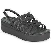 Cipők Női Szandálok / Saruk Crocs CROCS BROOKLYN STRAPPY LOWWDGW Fekete