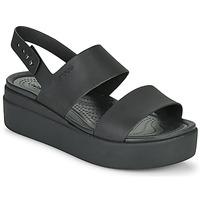 Cipők Női Szandálok / Saruk Crocs CROCS BROOKLYN LOW WEDGE W Fekete