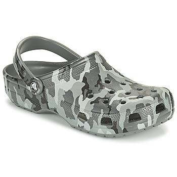 Cipők Férfi Klumpák Crocs CLASSIC PRINTED CAMO CLOG Álcáz / Szürke