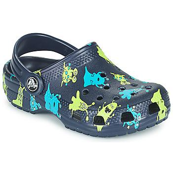 Cipők Fiú Klumpák Crocs CLASSIC MONSTER PRINT CLOG T Kék