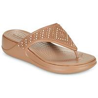 Cipők Női Lábujjközös papucsok Crocs CROCS MONTEREY SHIMMER WGFPW Bronz