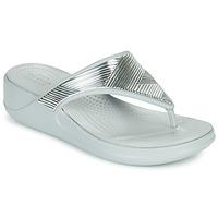 Cipők Női Lábujjközös papucsok Crocs CROCS MONTEREY METALLIC WGFPW Ezüst