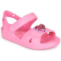 Cipők Lány Szandálok / Saruk Crocs CLASSICCROSSSTRAPCHARMSANDAL T Rózsaszín