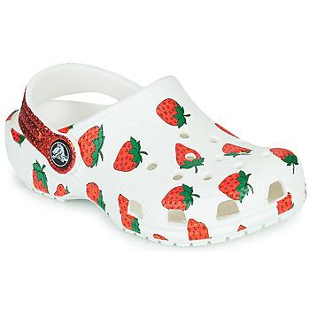 Cipők Lány Klumpák Crocs CLASSIC FOOD PRINT CLOG K Fehér / Rózsaszín
