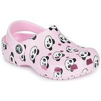 Cipők Lány Klumpák Crocs CLASSIC PANDA PRINT CLOG K Rózsaszín / Panda