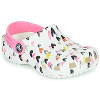 Cipők Lány Klumpák Crocs CLASSIC HEART PRINT CLOG K Fehér / Szív