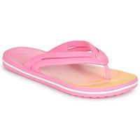 Cipők Női Lábujjközös papucsok Crocs CROCBAND OMBRE FLIP W Rózsaszín