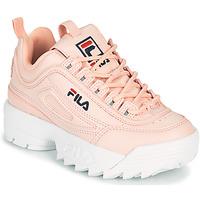 Cipők Lány Rövid szárú edzőcipők Fila DISRUPTOR KIDS Rózsaszín