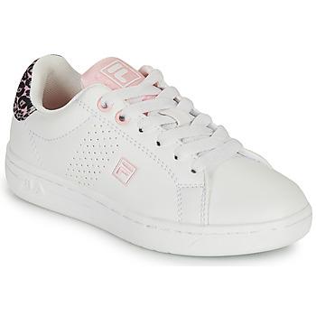 Cipők Lány Rövid szárú edzőcipők Fila CROSSCOURT 2 NT KIDS Fehér / Rózsaszín