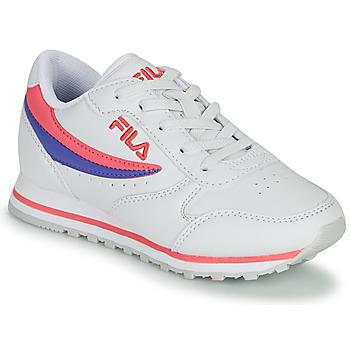 Cipők Lány Rövid szárú edzőcipők Fila ORBIT LOW KIDS Fehér / Rózsaszín