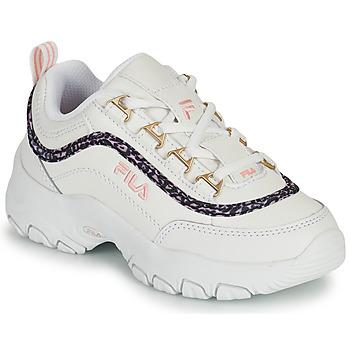 Cipők Lány Rövid szárú edzőcipők Fila STRADA A LOW JR Fehér / Bézs