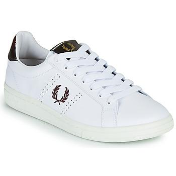 Cipők Férfi Rövid szárú edzőcipők Fred Perry B721 Fehér