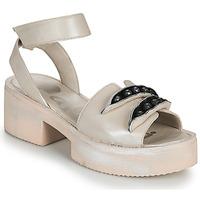 Cipők Női Szandálok / Saruk Papucei AMON Bézs