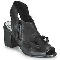 Cipők Női Szandálok / Saruk Papucei MARBLE Fekete