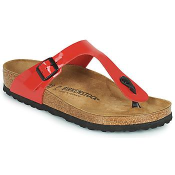 Cipők Női Lábujjközös papucsok Birkenstock GIZEH Piros