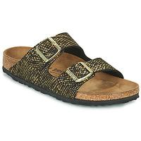 Cipők Női Papucsok Birkenstock ARIZONA Fekete  / Arany