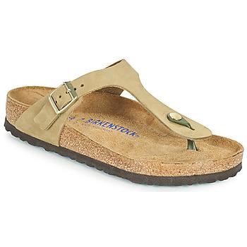 Cipők Női Lábujjközös papucsok Birkenstock GIZEH SFB Barna