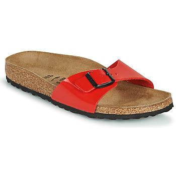 Cipők Női Papucsok Birkenstock MADRID Piros