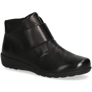 Cipők Női Bokacsizmák Caprice Booties Flats Black Black