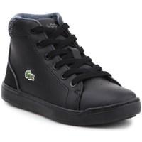 Cipők Gyerek Magas szárú edzőcipők Lacoste Explorateur Lace 317 1 Cac Fekete