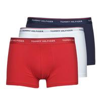 Fehérnemű Férfi Boxerek Tommy Hilfiger TRUNK X3 Fehér / Piros / Tengerész
