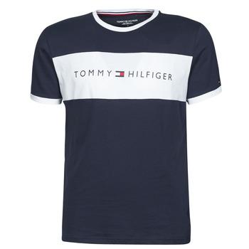 Ruhák Férfi Rövid ujjú pólók Tommy Hilfiger CN SS TEE LOGO FLAG Tengerész / Fehér