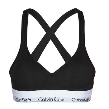Fehérnemű Női Sport melltartók Calvin Klein Jeans MODERN COTTON BRALETTE LIFT Fekete