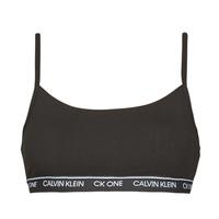 Fehérnemű Női Sport melltartók Calvin Klein Jeans UNLINED BRALETTE Fekete