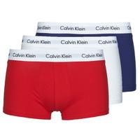Fehérnemű Férfi Boxerek Calvin Klein Jeans RISE TRUNK X3 Tengerész / Fehér / Piros