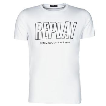 Ruhák Férfi Rövid ujjú pólók Replay  Fehér