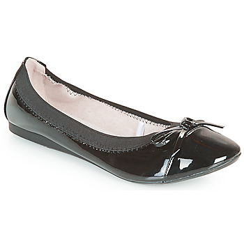Cipők Női Balerina cipők  Moony Mood ELALA Fényes / Fekete