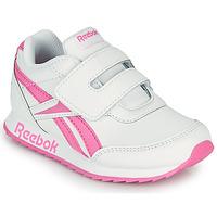 Cipők Lány Rövid szárú edzőcipők Reebok Classic REEBOK ROYAL CLJOG 2 KC Fehér / Rózsaszín
