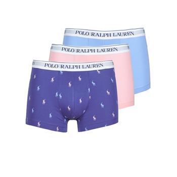 Fehérnemű Férfi Boxerek Polo Ralph Lauren CLASSIC TRUNK X3 Rózsaszín / Kék / Tengerész