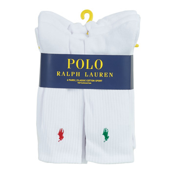 Kiegészítők Férfi Sport zoknik Polo Ralph Lauren ASX110 6 PACK COTTON Fehér