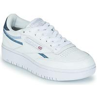 Cipők Női Rövid szárú edzőcipők Reebok Classic CLUB C DOUBLE Fehér / Kék