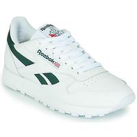 Cipők Rövid szárú edzőcipők Reebok Classic CL LTHR Fehér / Zöld
