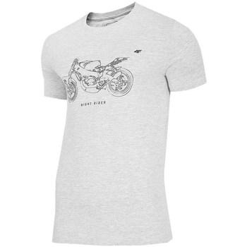 Ruhák Férfi Rövid ujjú pólók 4F TSM012 Szare