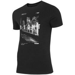 Ruhák Férfi Rövid ujjú pólók 4F TSM025 Czarne