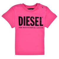Ruhák Lány Rövid ujjú pólók Diesel TJUSTLOGOB Rózsaszín