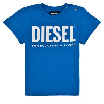 Ruhák Fiú Rövid ujjú pólók Diesel TJUSTLOGOB Kék