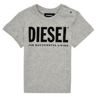 Ruhák Gyerek Rövid ujjú pólók Diesel TJUSTLOGOB Szürke