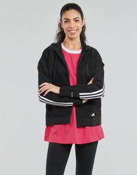 Ruhák Női Pulóverek adidas Performance W Knit V Hoodie Fekete