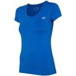 Ruhák Női Rövid ujjú pólók 4F TSDF002 Niebieskie