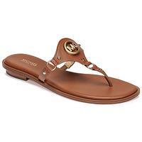 Cipők Női Lábujjközös papucsok MICHAEL Michael Kors CONWAY SANDAL Konyak