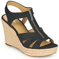 Cipők Női Szandálok / Saruk MICHAEL Michael Kors BERKLEY WEDGE Fekete